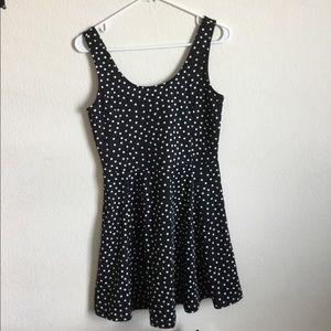 H&M black and white polka dot sun dress